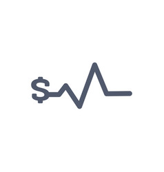 Heartbeat pulse with dollar sign bussiness vector