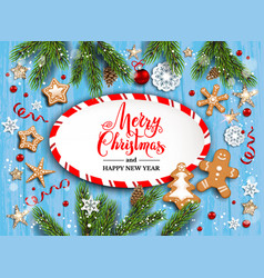holiday christmas striped blank vector image