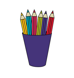 Isolated pencils design vector
