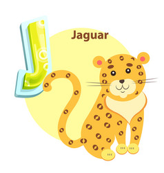 jaguar on children alphabet vector image