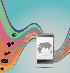 Mobile background background vector