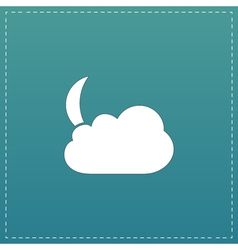 Moon and clouds 10eps vector image