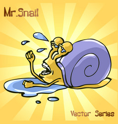 mr snail with failure vector image