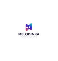 music logo on white background stylized vector image