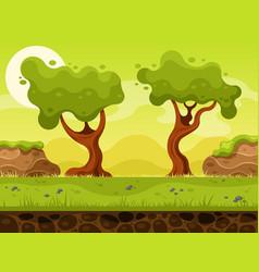 Nature landscape for 2d game vector