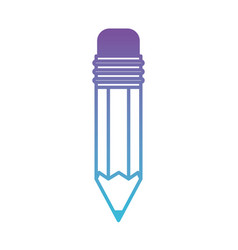 pencil design tool in degraded purple to blue vector image