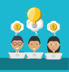 people project to financial business support vector image