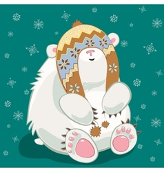 Polar bear cub vector