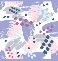 Purple pink hand drawn paint lines seamless vector