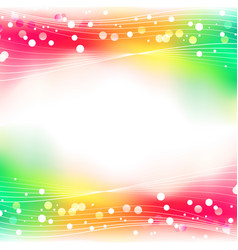 Rainbow abstract defocused bokeh lights background vector