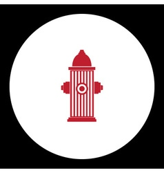 Red fire hydrant simple isolated icon eps10 vector