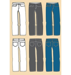 Retro jeans design vector image