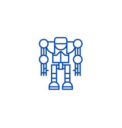 robotdroid line icon concept robotdroid flat vector image