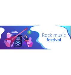 rock music concept banner header vector image