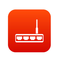 router icon digital red vector image