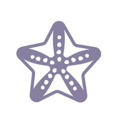 Sea starfish single icon separate isolated vector