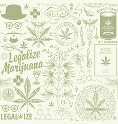 seamless pattern for a legalize marijuana vector image