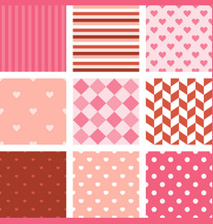 set pink seamless pattern background vector image