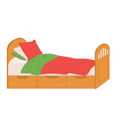 Small size bed for children isolated sofa home vector