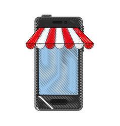 Smartphone buy online vector