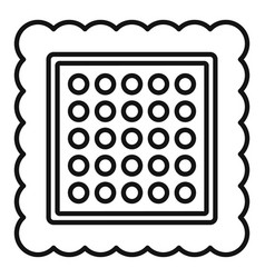 Square cracker icon outline style vector