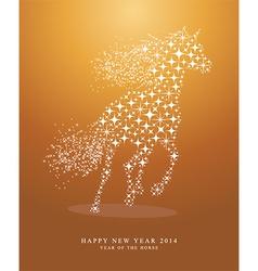 Star horse design vector