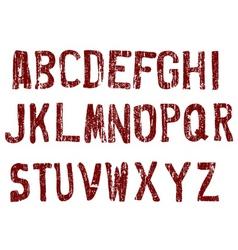street grunge letters vector image