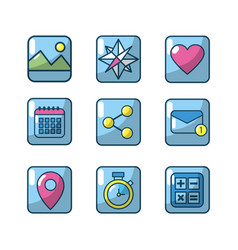 technology apps connection media server vector image
