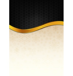 The black celebration paper with golden stripe vector image