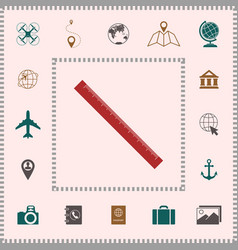 the long ruler icon elements for your design vector image