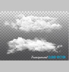 transparent clouds vector image