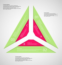 Triangle from three parts vector
