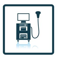 Ultrasound diagnostic machine icon vector image