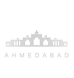 Vertical bars ahmedabad landmark skyline vector