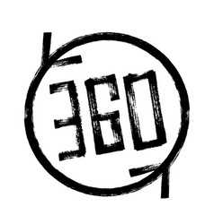 Vr glasses virtual reality 360 marker line icon vector