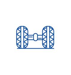 Wheel alignmentgarage line icon concept wheel vector