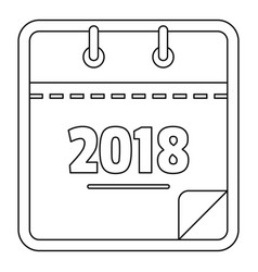 year calendar icon outline style vector image