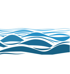 blue water sea waves abstract background vector image vector image