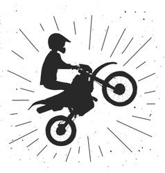 Enduro bike hand drawn vector