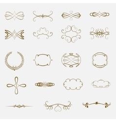 Set of vintage ornaments vector image vector image