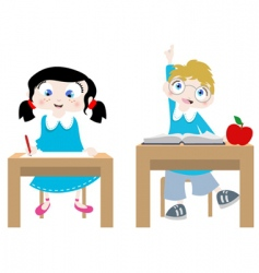 studying cartoon characters vector image