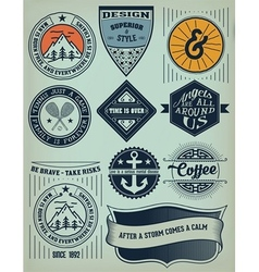 Vintage Insignias and logotypes set design vector image vector image