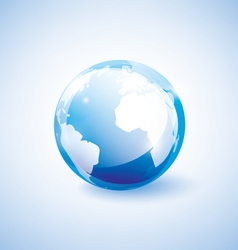 blue earth vector image
