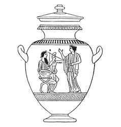 greek vase is a idealized depictions of the human vector image vector image
