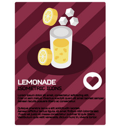 lemonade color isometric poster vector image
