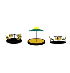 Set of Silhouette Swing Black on White Background vector image