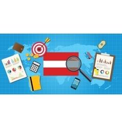 Austria economy economic condition country with vector