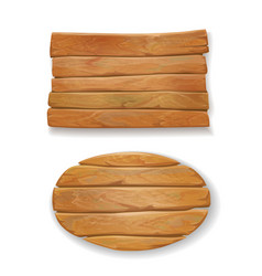 wooden old board vector image