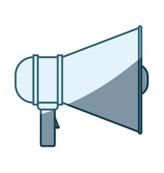 blue shading silhouette of megaphone icon vector image