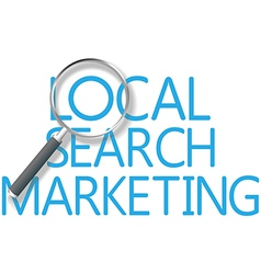 Find Local Search Marketing Tool vector image